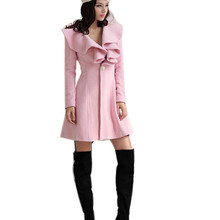 New Autumn Winter Women Fashion Thick Wool Blend Warm Coat Elegant Knitted Tops Butterfly Outwear Overcoat Abrigo Casaco Oct25