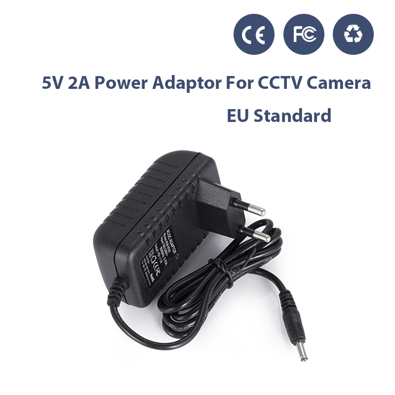 AC 100-240V DC 5V 2A EU/US/AU/UK Plug AC/DC Power Adapter Charger Power Adapter for CCTV Camera DIY Kit (1.35mm * 3.5mm) 100pcs us eu uk au plug ac line 1 5m dc line 1 2m ac100 240v to dc 24v 1a 24w power adapter 24v1a ac adapter