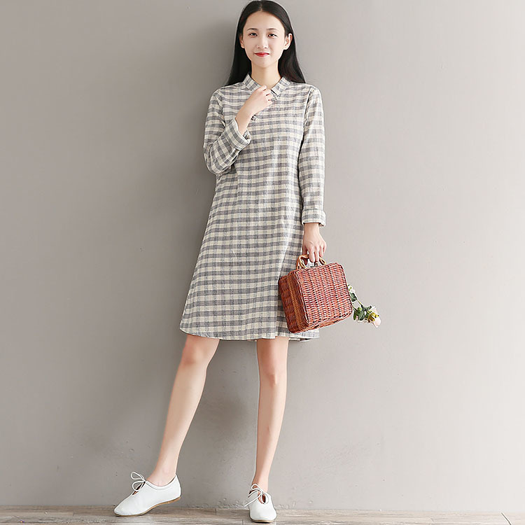 d4289580108 TriTrust Brand 2018 Autumn New Pattern Retro Chinese Wind Long Sleeve  Surplice Flax Loose Cheongsam Cotton Women Shirts Blouse-in Blouses & Shirts  from ...