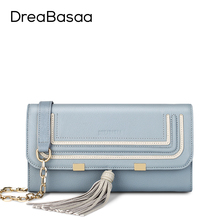 Dreabasaa Genuine Leather Mini Crossbody Bags For Women Chain Tassel Sheepskin Women's Handbag Small Bag Flap Pocket