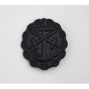 EMD WWI German Naval Wound Badge In Black2