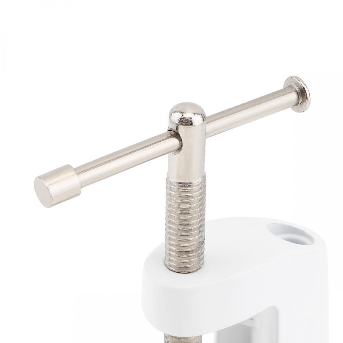 Aluminum Alloy Cantilever Desktop Magnifier Bracket Clamp Holder Metal LED Desk Lamp Clip Fittings Base Hose For Mic Stand