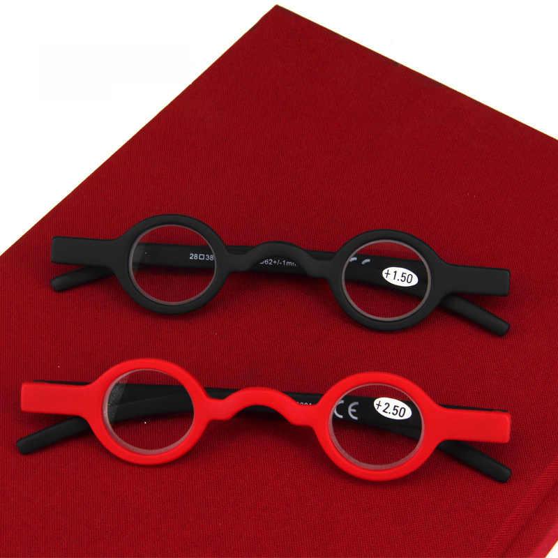 8f26ceb744d ... 2018 Small Reading Glasses Men Women Round Frame Presbyopic Glasses  Vintage Black Red Glasses Frame Round