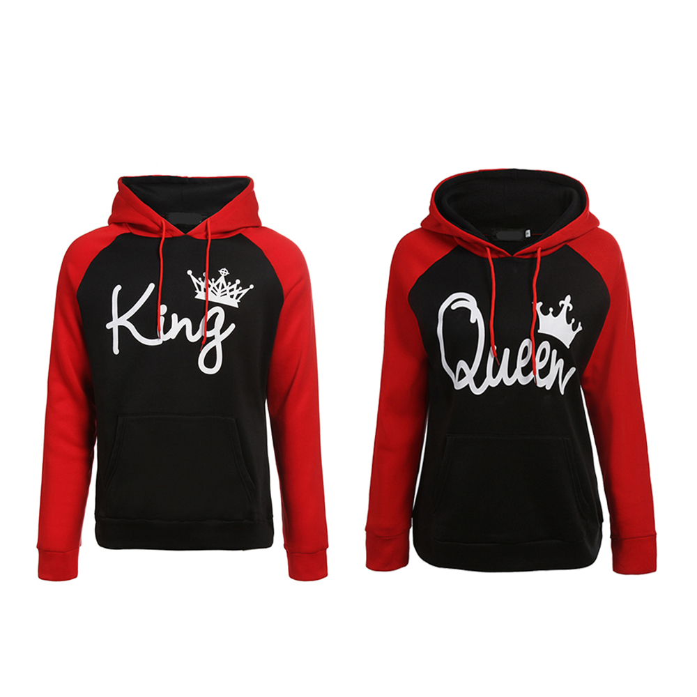 Big Discount #ce38 QUEEN KING Print Hooded Long Sleeve