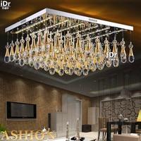 Flat crystal lamp led light square modern minimalist living room bedroom den Lighting fixtures Ceiling Lights Luxury lamp