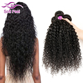Виргинский Бразильский Вьющиеся Волосы Ткать 4 Пучки Дешевые Brazilain Странный Вьющиеся Девы Волос Tissage Bresilienne Странный Вьющиеся Человеческих Волос
