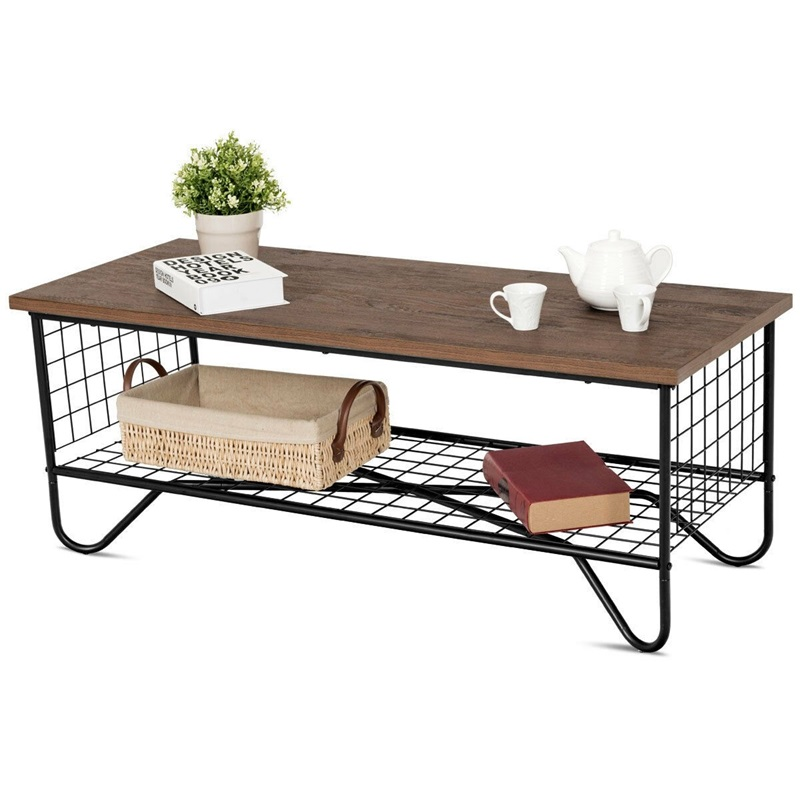Coffee Accent Cocktail Sofa Side Table Solid Metal Frame HW59329