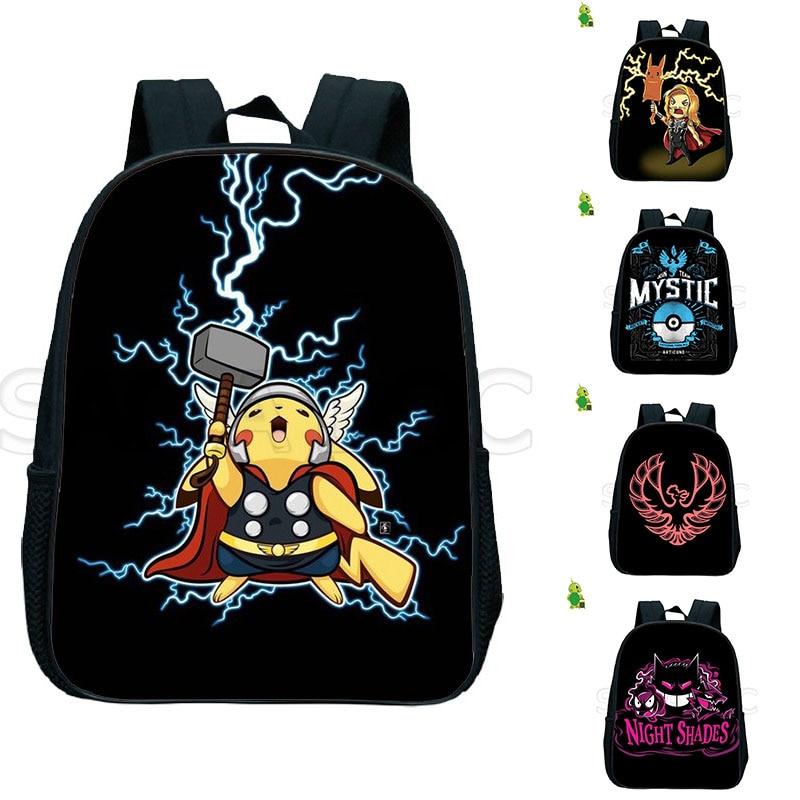 Pokemon Pikachu Backpack Team Valor Mystic Instinct Toddler Bags Kids Primary School Bags For Girls Boys Kindergarten Backpack