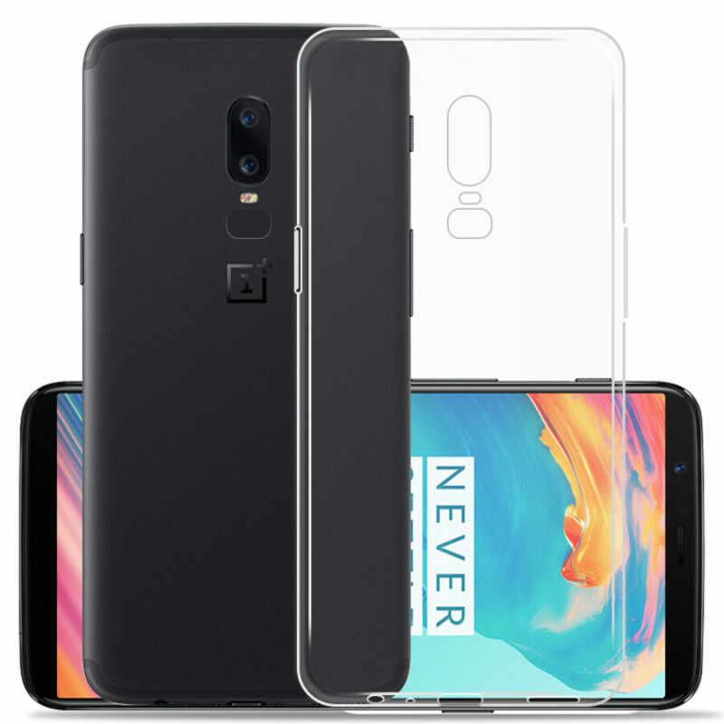 Cubierta trasera de teléfono HD transparente TPU funda de piel para OnePlus 5T 3T Ultra delgada funda de silicona de cristal para Oneplus 6T 6 5 5T 3T