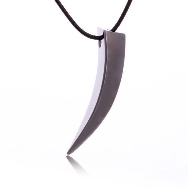 Stainless Steel Wolf Tooth Spike Pendant Necklace Men Personality Male Necklace Jewelry