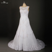 yiaibridal Lace Open Back Wedding Dress A-Line Noiva RSW870