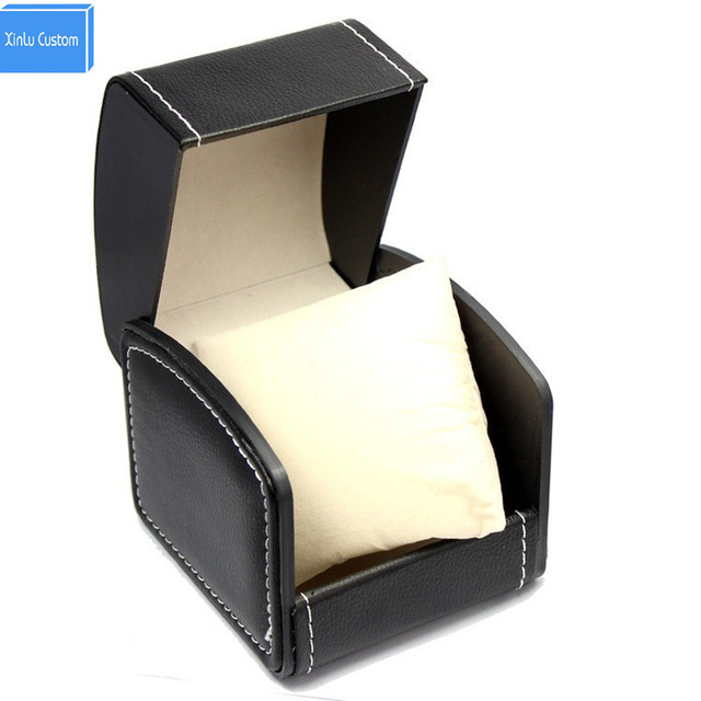 Luxury PU watches Box Leather Men Women Watch Casual Business Black Brown Leather Watch Box Randomly ship color