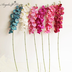 7/9/12heads Real embossing artificial flower orchid phalaenopsis decor for DIY wedding home party plants silk flower arrangement