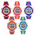 Waterproof LED Digital Display Children Student Sport Stopwatch Light Alarm Function Boy Girl Electronic Wrist Watch