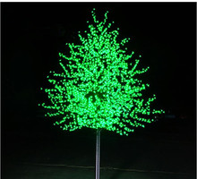 Free Shipping 1.5Meter 648LEDS artificial peach blossom led tree with cheap christmas lights and
