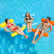 new inflatable Foldable Water hammock recliner floating bed swimming pool mattress ring
