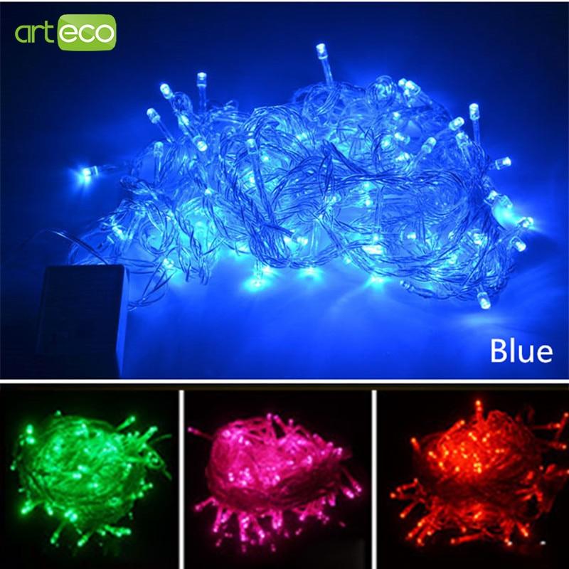 110V / 220V 10M 100LEDs Krismas LED String Light Xmas Fairy Garland - Pencahayaan perayaan - Foto 3