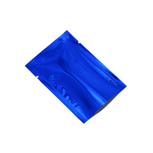 10*15cm Blue Glossy Open Top Mylar Foil Package Bag Aluminum Tea Food Packaging Pouch Vacum Seal Pack Bags 100 Pieces/lot