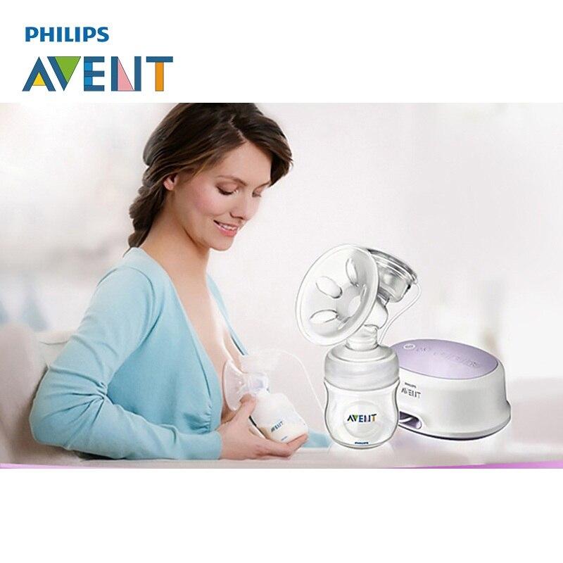 AVENT натуральный комфорт один Электрический молокоотсос силикон/полипропилен BPA бесплатно + 4 унции натуральные бутылки молокоотсосы для 0 6 м ребенка