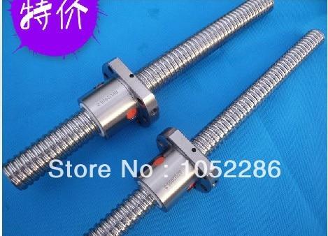2pcs ball screw RM2505- 1250/450mm guide+2pcs SFU2505 single ball nut with end machined for cnc 1pcs ball screw rm1605 850mm screw shaft guide 1pcs sfu1605 single ball nut with end machined for cnc router