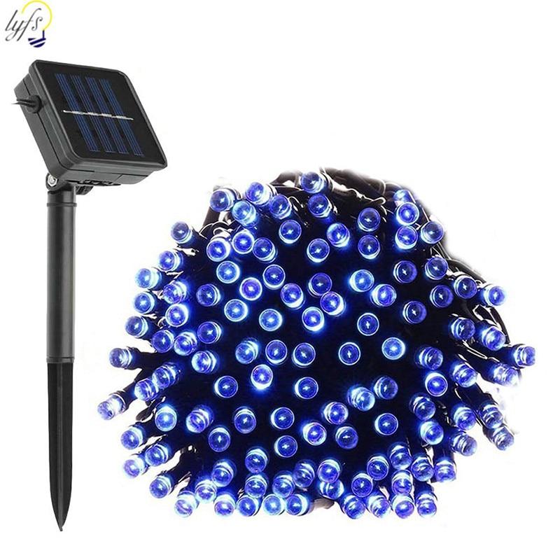 100/200LED Solar Fairy Lights String Outdoor Waterproof Solar Power String Light Garden LED Holiday Decoration
