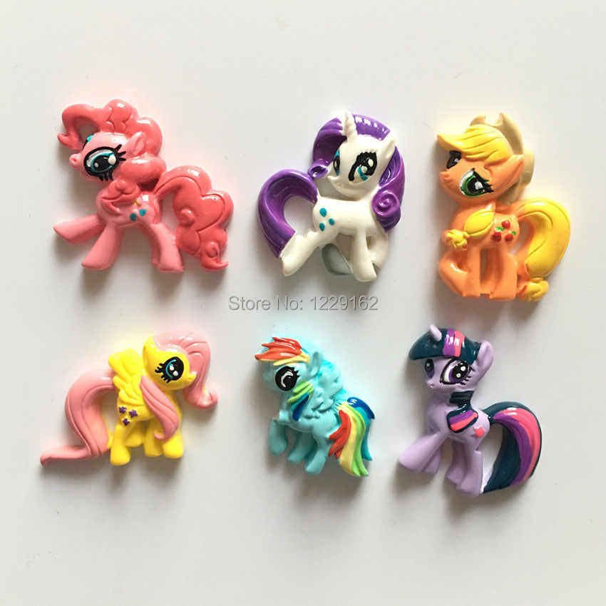 Free Shipping(6pcs/set ) Cute animal fridge magnet Cartoon Pony message sticker Kids toy small gift