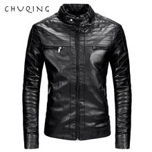 CHUQING New Korean Version of the Locomotive Slim Leather Fashion Casual Mens Jacket
