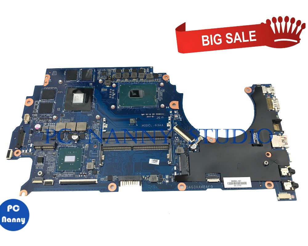 PC NANNY FOR HP 15-CE002la 15-CE Laptop Motherboard 929483-601 929483-001 GTX 1050 4GB <font><b>i7</b></font>-<font><b>7700</b></font> DAG3AAMBAF0 tested image
