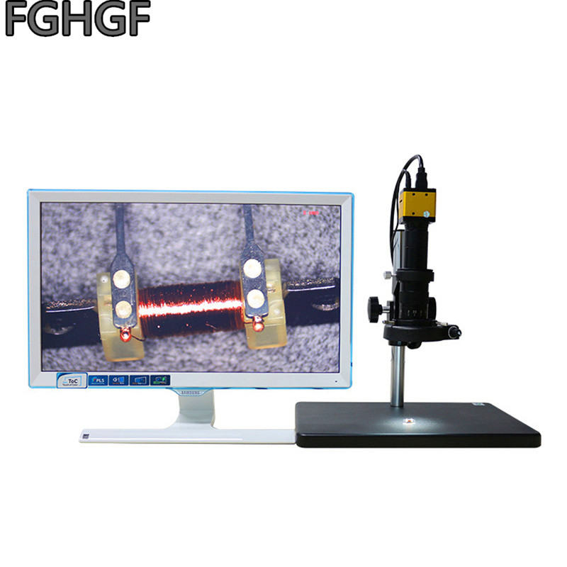 FGHGF HDMI-200 Megapixel Camera HD Electron Microscope 0745 Zoom Lens C interface LCD Semiconductor Fiber plastic Testing image