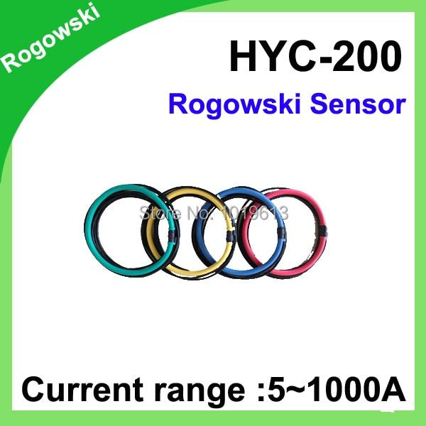 rogowski sensor FCT-200 Input 5~1000A Max output 40mV flexible rogowski coil Inner diameter 60mm frc 210 input 1 1000a output 38mv with bnc connector inner diameter 60mm flexible rogowski coil