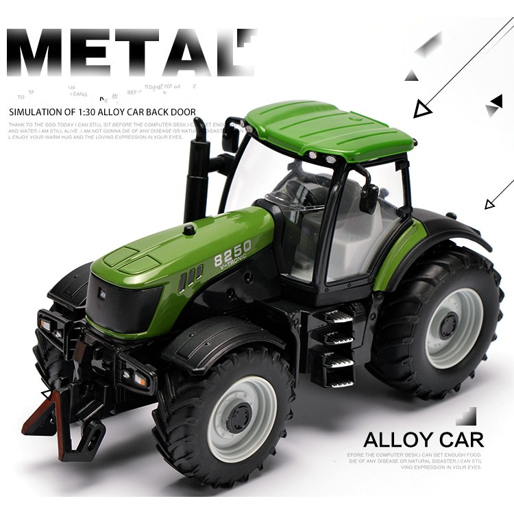1:30 Alloy engineering car tractor toy bulldozer model farm vehicle belt boy toy car model children