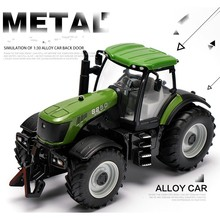 1:30 Alloy engineering car tractor toy bulldozer model farm vehicle belt boy toy car model children's Day gifts