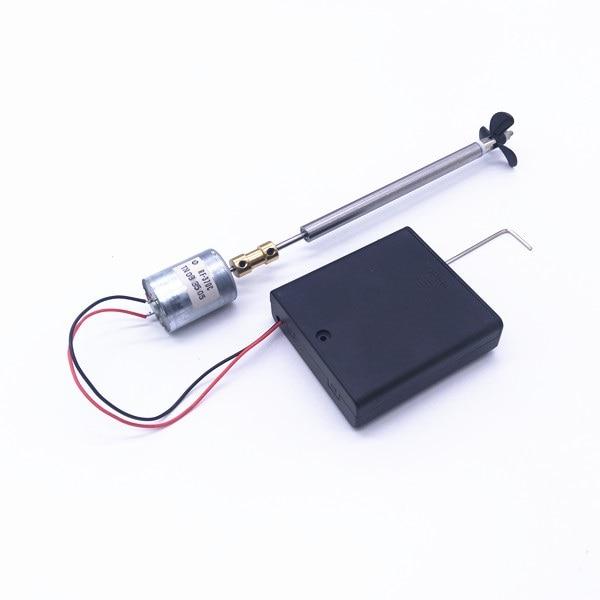 1Set 370 Drive Motor Shaft Assembly Metal Shaft+Propeller+ Coupling + Shaft Sleeve Kit for DIY RC Electric Boat Model 10/15/25CM