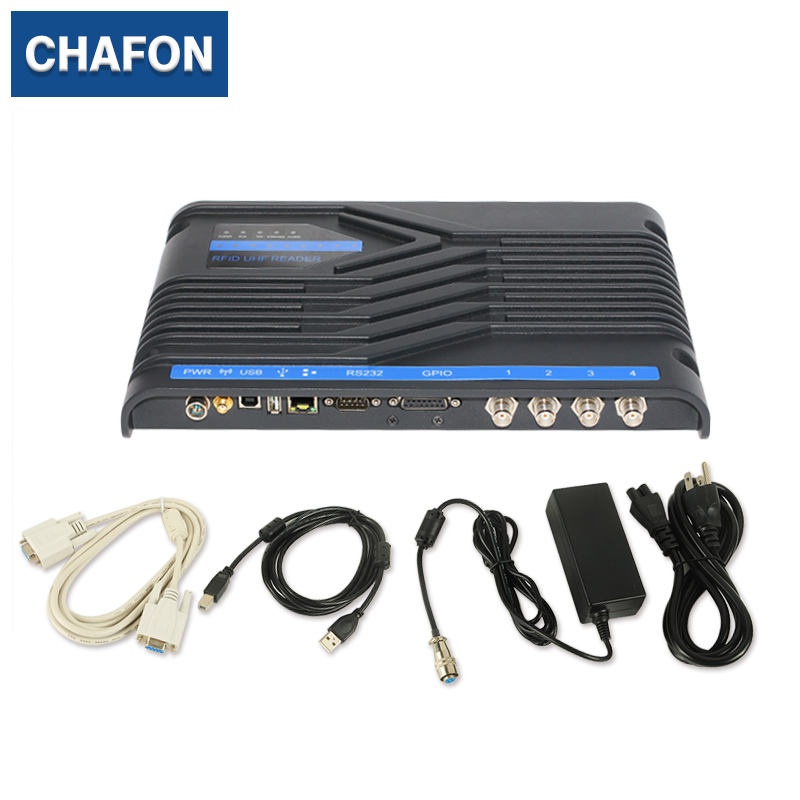 CHAFON 4 port uhf Impinj R2000 rfid reader for marathon sports with RS232 RS485 TCP/IP USB interface free SDK and sample tags