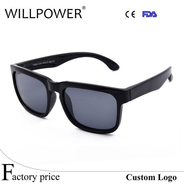 c3da8e9c41 Gros nom de marque de haute qualité polarisées Carré lunettes de soleil  pour enfants enfants