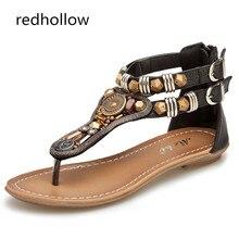 Summer Shoes Women Sandals Bohemia Flat Women Sandals Fashion String Bead Woman Flip Flops Shoes Mujer Sandalias Fashion стоимость