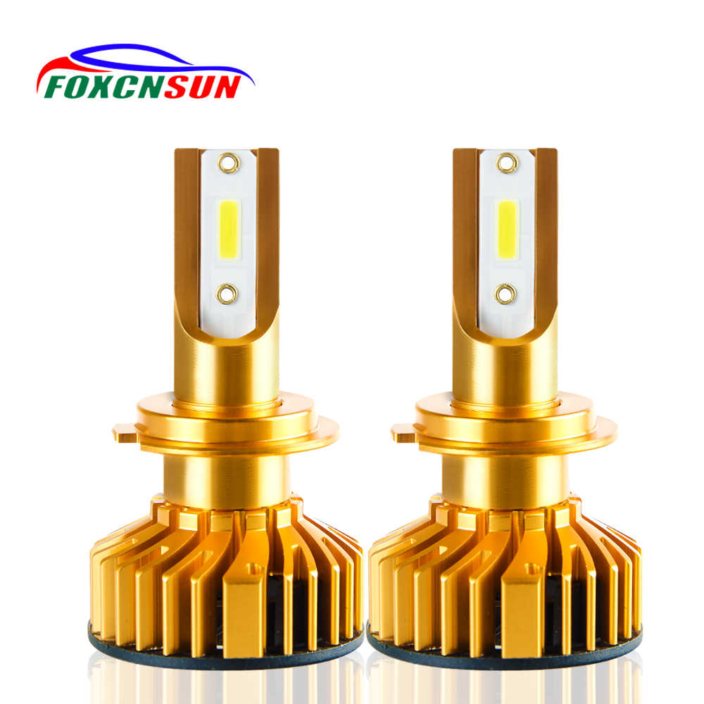 Foxcnsun LED 10000LM 72W 6500K H1 H7 H8 H9 H11 Car LED H4 Headlight White Hi Lo Beam 9005 HB3 9006 HB4 Canbus Bulbs With decoder
