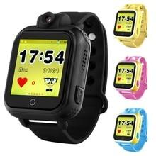 Vwar Q75 GW1000 3G WCDMA de la Cámara Remota GPS LBS WIFI Ubicación niños gps smart watch 720 p 1.54 pantalla táctil inteligente sos del perseguidor