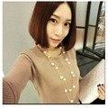 NK826 Nuevo Diseño 2016 Exo Bijoux Lindo Amor de Imitación Perla Colgante Collar de Cadena Larga para Las Mujeres Joyería de La Boda Declaración de Regalo