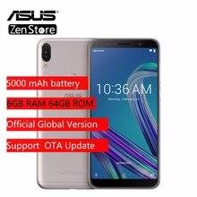 ASUS ZenFone Max Pro (M1) ZB602KL Küresel Sürüm 6 GB 64 GB 6 inç 4G LTE akıllı telefon Yüz KIMLIĞI 5000 mAh Android8.1 Küresel V