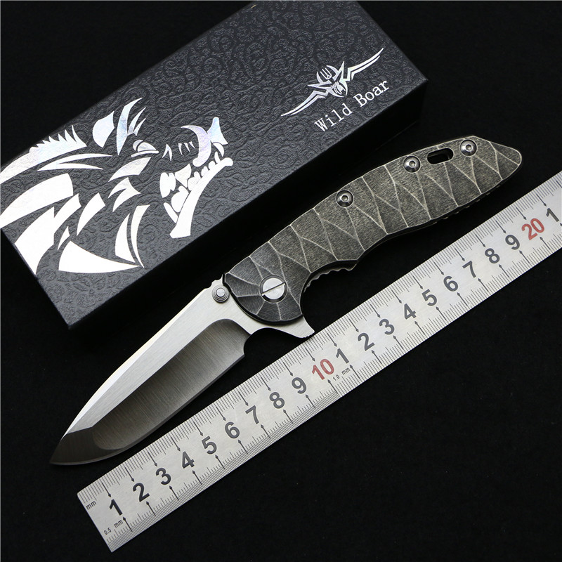 Wild boar HINDERER CTS 18 HP XM18 font b tactical b font folding font b knife