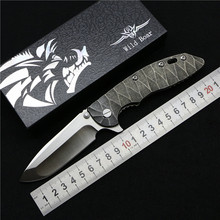 Wild boar HINDERER CTS-18 / HP XM18 tactical folding knife D2 blade TC4 titanium alloy handle outdoor hunting camping EDC tools