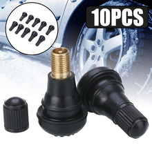10pcs/set TR412 Car Valve Snap In Rubber Tubeless Tire Cap Wheel Stem Hole 11.55mm Parts
