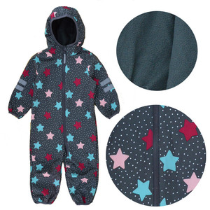 Image 2 - Foreign trade childrens soft shell pants outdoor Siamese climbing clothes boys and girls Childrens waterproof jumpsuit,