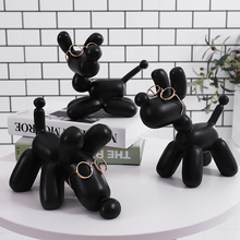 HOT Modern Balloon Dog Statue Fashion Ceramic Resin Crafts Sculpture Statues For Home Decoration Creative Gifts
