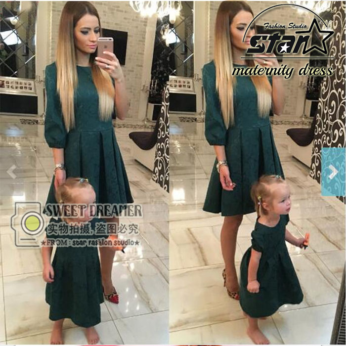 Autumn Mother Daughter Dresses Matching Mother Daughter Clothes Party  Elegant Mom and Daughter Dress Family Matching Clothes - Family Matching Clothes For Mother Daughter Promotion-Shop For