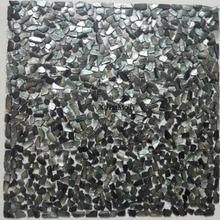 11 Uds. Mosaico irregular negro de concha de labios azulejo madre de perla cocina baño pared backsplash fondo de pantalla azulejos de Ducha