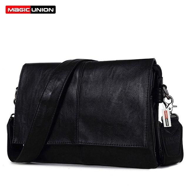 MAGIC UNION Men Leather Shoulder Bag Envelope Style Bag Large-capacity Messenger Bags High Quality Men's Leather Handbags