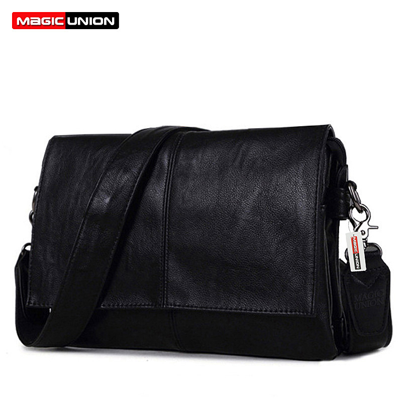 MAGIC UNION Men Leather Shoulder Bag Envelope Style Bag Large-capacity Messenger Bags High Quality Men's Leather Handbags