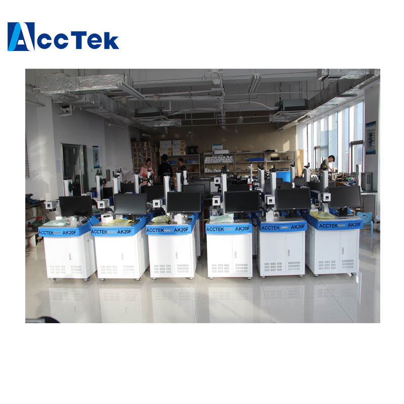 CNC Fiber Laser Marking Machine For Phone Back Cover Moving/ Phone Glass Screen Laser Splitter Marking Machine 20w